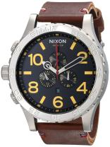 Nixon Men's 51-30 Chronograph Stainless Steel Watch With Leather Band