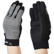 AmazonBasics Enhanced Flex Grip Work Gloves - Gray, XXL