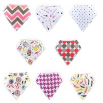 Baby Bandana Drool Bibs, Pack of 8 Super Absorbent Modern Soft Snap Bib Set 100% Organic Cotton, Adjustable, Baby Shower Gift by Land of Goods (Pink Dreams)