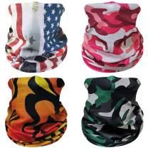 DD DEMOISELLE Unisex Face Mask Bandana Men's Women's Neck Gaiters Face Cover Shield Scarf 4 Pack