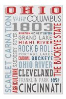 Ohio - Typography (Premium 1000 Piece Jigsaw Puzzle for Adults, 20x30, Made in USA!)