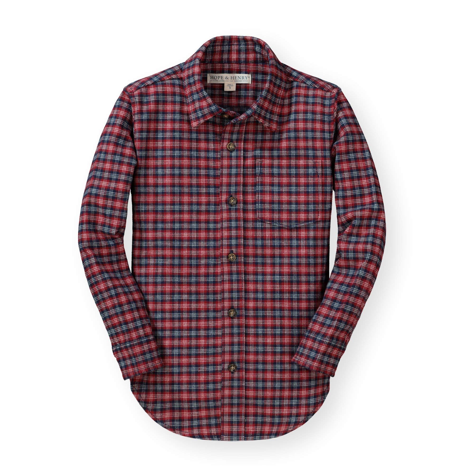 Hope /& Henry Boys Gingham Poplin Button Down Shirt