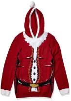 Ugly Christmas Sweater Men's Santa Hooded