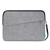 Laptop Sleeve Bag 15 Inch Lightweight Tablet Carrying Case Cover Bags Water Resistant Protective Bag Handbag Compatible MacBook Air,MacBook Pro,Acer, HP 14-15 Inch Notebook,Grey