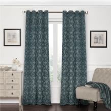 Eclipse 12427052084SMB Patricia 52-Inch by 84-Inch Blackout Grommet Single Curtain Panel, Storm Blue
