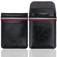 WALNEW Sleeve for 6 Inch Kindle - Slim Pouch for Kindle 2019/Kindle Paperwhite/Kindle Voyage/Kindle (8th Gen, 2016)/Kindle 4/5/Kindle Touch Protective Insert Pouch Cover Case Bag, Black