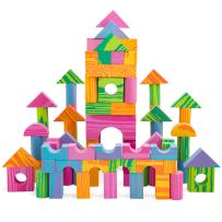 Morvat Foam Building Block Set- 140 Piece Soft Multi-Colored Building Blocks Sets Educational Stacking Blocks, Foam Building Blocks for Kids, Non-Toxic &BPA Free -Great Bath Toys for Babies & Toddlers