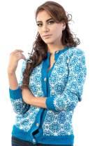 Sky Blue Cardigan Sweater in Alpaca Fiber