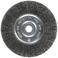 Firepower 1423-2121 Crimped Type Carbon Steel Wire Wheel Brush with 6-Inch Diameter and 1/2-Inch Width