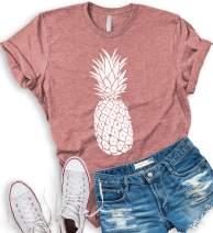 Asher's Apparel Pineapple Shirt | Women's Summer T-Shirt | Casual Short Sleeve