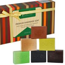 Aromatherapy Goat Milk Bar Soaps, Artisan Crafted with Natural Essential Oils, 6-Pack Gift Set. Handmade, Antibacterial Face and Body Soap for Men and Women, 4 oz. Organic Soap Bars