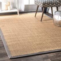nuLOOM Orsay Machine Woven Area Rug, 3' x 5', Light Grey