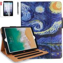 iPad Pro 10.5 Case, iPad Air 3 Case with Pencil Holder, Bonus Screen Protector and Stylus - Multi-Angle Stand, Hand Strap, Auto Sleep/Wake for iPad Air 3rd Generation, iPad Pro 10.5(Starry Night)