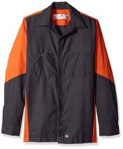 Red Kap Men's Ripstop Long-Sleeve Crew Shirt