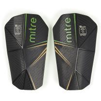 Mitre Delta Slip Soccer Shin Guard, Black/Green/Yellow, Small