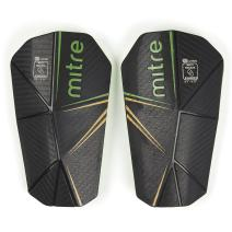 Mitre Delta Slip Soccer Shin Guard, Black/Green/Yellow, Large