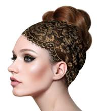 ShariRose Stunning Stretch Wide Floral Lace Headbands in Many Beautiful Colors Handmade