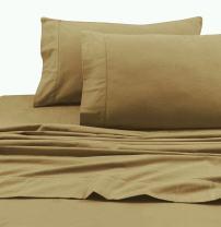 Tribeca Living 1TL200HSPCSTCA Super Soft Heavyweight Flannel 200-GSM Pillowcases, Standard, Cappuccino