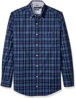 Nautica Men's Big and Tall Classic Fit Long Sleeve Plaid Button Down Shirt