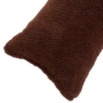 """Body Pillow Cover. Sherpa with side zipper by Lavish Home – 18 """"x52"""" (Chocolate)"""