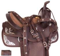 """Acerugs 10"""" 12"""" 13"""" Youth Western Horse Pony Saddle TACK Set Kids Barrel Racing Show Trail Crystal Bridle Breastplate REINS PAD"""