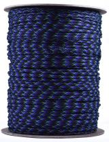 Bored Paracord - 1', 10', 25', 50', 100' Hanks & 250', 1000' Spools of Parachute 550 Cord Type III 7 Strand Paracord Well Over 300 Colors - Undead - 1000 Foot Spool