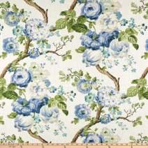 P Kaufmann Manor House Linen Porcelain, Fabric by the Yard