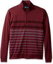 PGA TOUR Men's Golf Performance 1/4 Zip Printed Sweater