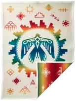 Pendleton Unisex Jacquard Muchacho Kids Blanket, Sunrise Eagle, One Size