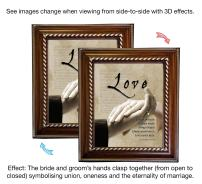 VERSERIES - Love Picture Frame - Christian Gift and Art - Animated Photo Frame - Bible Verse Gift - Choose Your Design (Rustic Wood Frame Design, Set of 1)