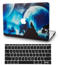 """KECC Laptop Case for MacBook Pro 13"""" (2020/2019/2018/2017/2016) w/Keyboard Cover Plastic Hard Shell A2159/A1989/A1706/A1708 Touch Bar 2 in 1 Bundle (Wolf)"""