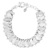 "Silpada 'Simply Sequin' Sterling Silver Link Bracelet, 8"""