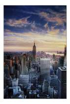 New York City, NY - City at Sunset 9002499 (19x27 Premium 1000 Piece Jigsaw Puzzle, Made in USA!)