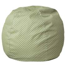 Flash Furniture Small Green Dot Bean Bag Chair for Kids and Teens