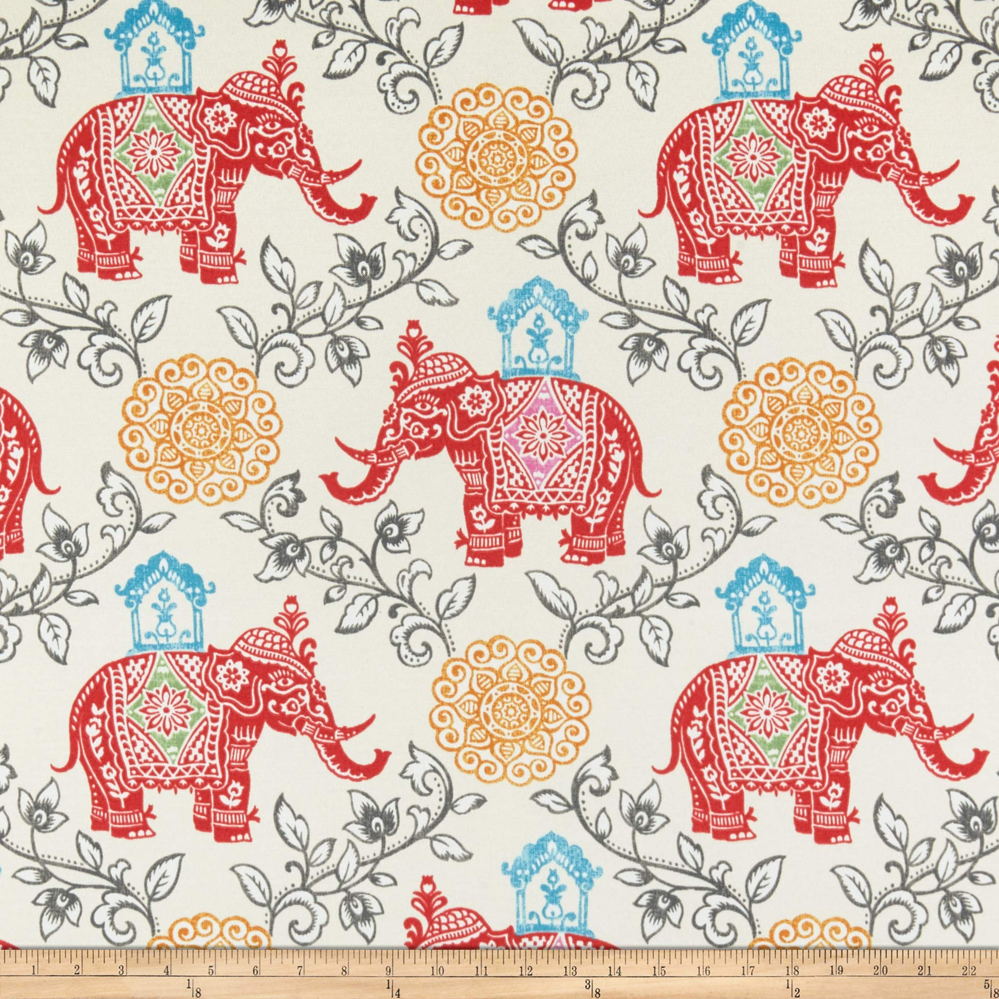 PKL Studio Indoor/Outdoor Circus Medallion Fabric, Fruit Punch, Fabric By The Yard