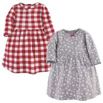 Hudson Baby Baby and Toddler Girl Cotton Dresses, Snowflake, 12-18 Months