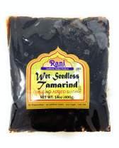 Rani Tamarind, Wet Seedless Block/Slab (Imli) 14oz (400g) ~ All Natural   No added sugar   Vegan   Gluten Free   NON-GMO   Indian Origin