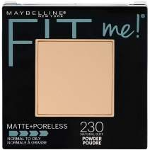 Maybelline New York Fit Me Matte + Poreless Powder Makeup, Natural Buff, 0.29 Ounce, Pack of 1
