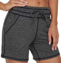 MOUEEY Women's Workout Yoga Shorts Running Athletic Gym Shorts with Pockets