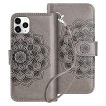 HianDier Case for iPhone 11 Pro Max Wallet Cases with Card Holder 9 Slots Detachable PU Leather Flip Cover Shockproof Magnetic Clasp Lanyard Dual Layer Wallet Case for iPhone 11 Pro Max, Mandala Gray