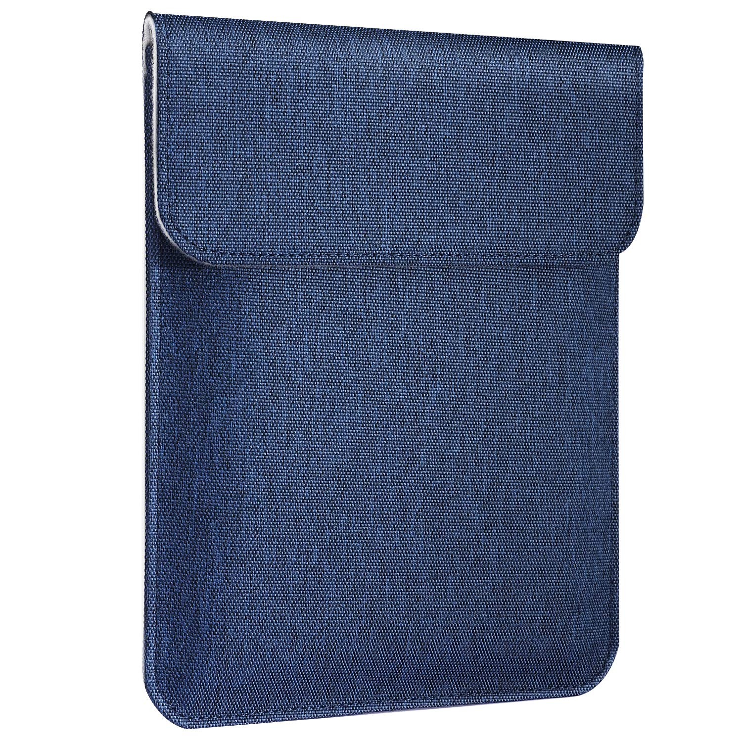 MoKo 7-8 Inch Tablet Sleeve Bag, Magnetic Closure Polyester Cover Case Fits Fire HD 8, Fire 7 2017/2019, Fire HD 8 Kids Edition 2017, Kindle Oasis 2017, Kindle (8th Generation, 2016) - Indigo