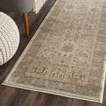 "Safavieh Vintage Collection VTG570A Transitional Oriental Ivory and Light Blue Distressed Runner (2'2"" x 8')"
