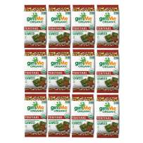 gimMe Organic Roasted Seaweed - Teriyaki - 12 Count Sharing Packs - Keto, Vegan, Gluten Free -Great Source of Iodine and Omega 3's - Healthy On-The-Go Snack for Kids & Adults