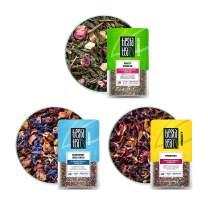 Tiesta Tea - Fruity Loose Leaf Tea Set, Strawberry Green Tea, Blueberry Fruit Tea & Hibiscus Fruit Tea, Medium Caffeine,1.6oz Pouches - 25 Cups Each