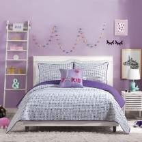 Urban Playground Comforter Set, QUILT FULL/QUEEN, JOCELINE PURPLE