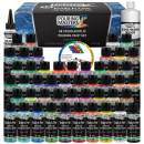 Pouring Masters 48 Color Ready to Pour Acrylic Pouring Paint Set - Premium Pre-Mixed High Flow 2-Ounce Bottles - for Canvas, Wood, Paper, Crafts, Tile, Rocks and More