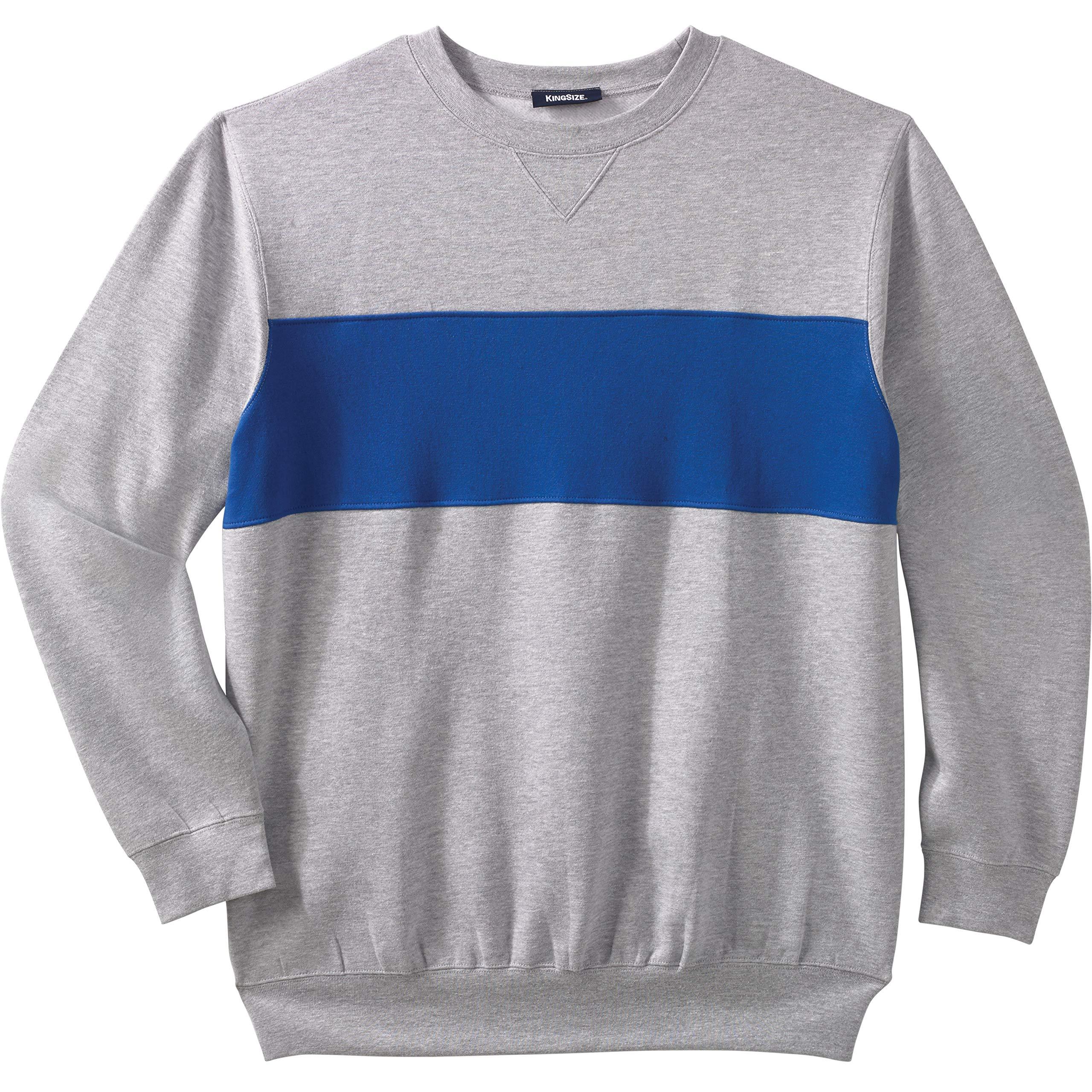 KingSize Men's Big & Tall Fleece Crewneck Sweatshirt