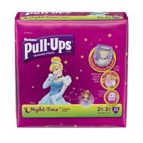 Pull-Ups Training Pants, Night Time for Girls 2T-3T, 23 Count (Packaging May Vary)