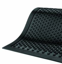 """M+A Matting 545 Safety Scrape Nitrile Rubber Entrance Indoor/Outdoor Floor Mat, 6' Length x 4' Width, 1/8"""" Thick, Black"""