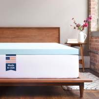 ViscoSoft Memory Foam Mattress Topper Twin XL | 2 Inch Response Gel Mattress Pad
